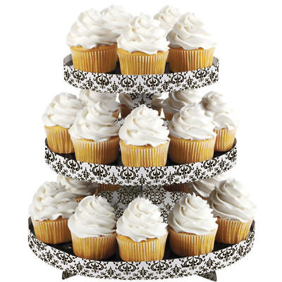 Wilton DAMASK Cupcakes Stand Cake Dessert Treats Party Decoration 3 Tier Display