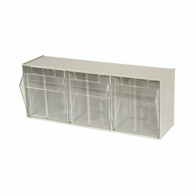 Akro-Mils 06703 TiltView Horizontal Plastic Storage System with Three Tilt Ou...