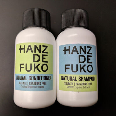 Hanz de Fuko Natural Sulfate Free Shampoo & Conditioner SAMPLES duo, 1 oz each