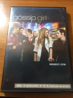 Gossip Girl Season 1 Disc 3 Episodes 9-12 and Bonus Scenes (DVD) ...B