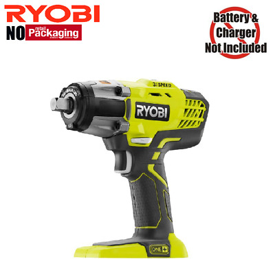 Ryobi P261 18V 18-Volt ONE+ 1/2 in. Cordless 3-Speed Impact Wrench, Bare Tool
