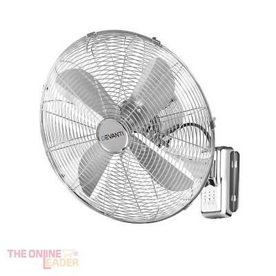 Devanti 40cm Wall Mountable Fan - Silver - comes with remote