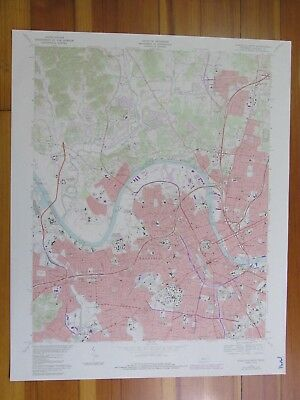 Nashville West Tennessee 1984 Original Vintage USGS Topo Map