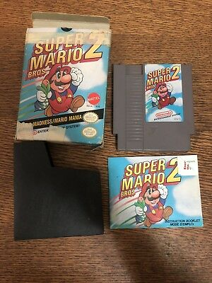 Nes Nintendo Super Mario Bros. 2 In Box