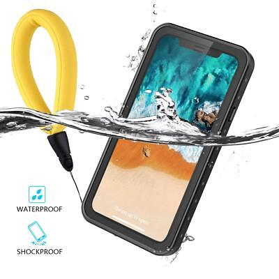 Temdan For iPhone XR 2018 Waterproof Case with Floating Strap Shockproof Case
