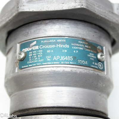Crouse-Hinds APJ6485 3-Wire/4-Pole Arktite Heavy-Duty 60 Amp Circuit Breaking Pl