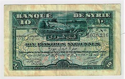Syria Banque de Syrie 10 Piastres 1.7.1920 Pick12 Very Fine-Extremely Fine.
