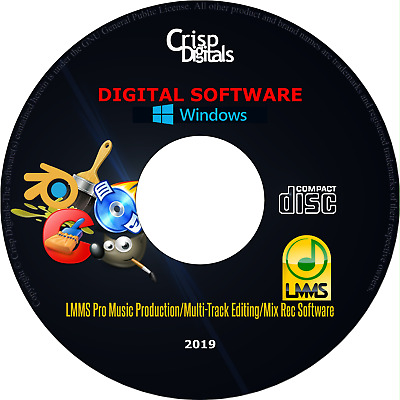 LMMS 2018 PROFESSIONAL Music making Production Software Suite DVD