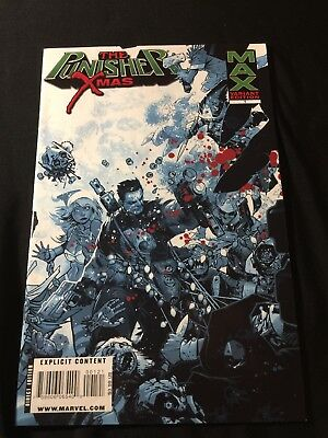 Marvel Max THE PUNISHER XMAS #1 NM- Bloody VARIANT Cover Christmas Special