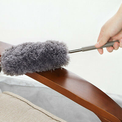 Adjustable Soft Microfiber Duster Dusting Brush Household Cleaning Tool US Stock