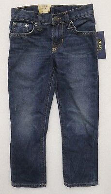 Polo Ralph Lauren Boy's Size 4/4T Blue Jeans Skinny 650 Classic New Nwt