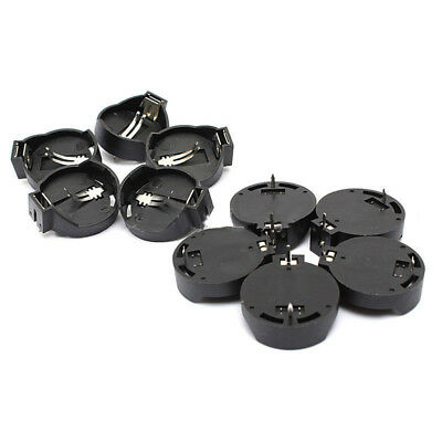 10PCS Button Coin Cell Battery Socket Holder Case Black CR2025 CR2032 Hot Sale
