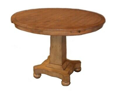 Banded & Brass Inlaid Biedermeier Style Card Table w/Pullouts