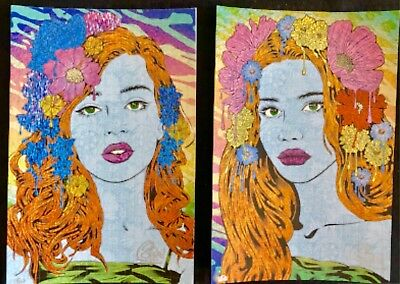 """ORACLE"" & ""SEER"" BLOTTER ART PRINT BY CHUCK SPERRY S/N xx/150 *SOLD OUT*"