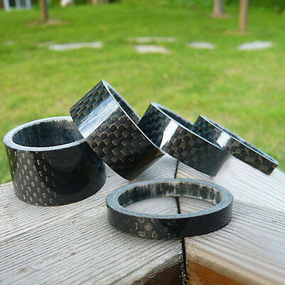 "Best 5,10,15,20mm Carbon Fiber Headset Spacers kit 1 1/8"" For Stem Road BIKE MTB"