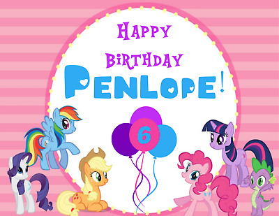 MLP My Little Pony Edible Image Birthday Cake Topper Decoration