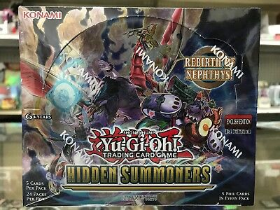 YuGiOh Hidden Summoners 1st Edition Booster Box English Factory Sealed   NEW