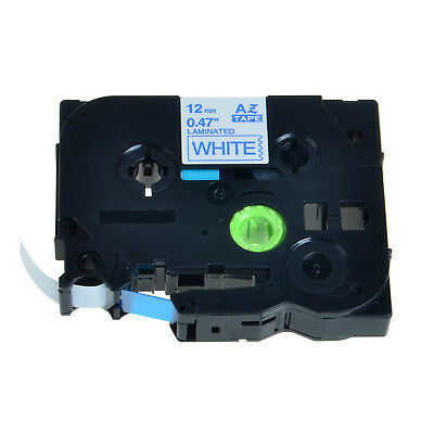 10PK Blue on White TZe233 TZ233 Label Tape for Brother P-Touch PT-2500PC 12mm