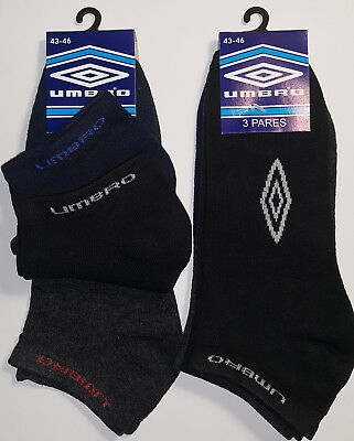 6 Pares calcetines deportivos invisibles Umbro. 100% Originales. Talla 43 / 46