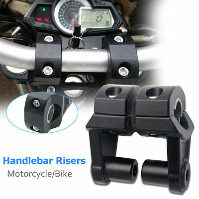 "7/8"" 22MM Motociclo  MANUBRIO Fat bar riser Clamp Mount Kit Nero"