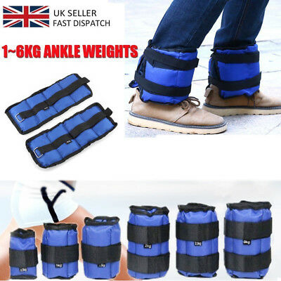 1-6KG Ankle Weights Leg Strap with Buckle and Magic Tape Resistant Adjustable UK