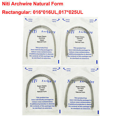 Dental Orthodontic Niti ArchWire Rectangular Wire Natural Form Super Elastic