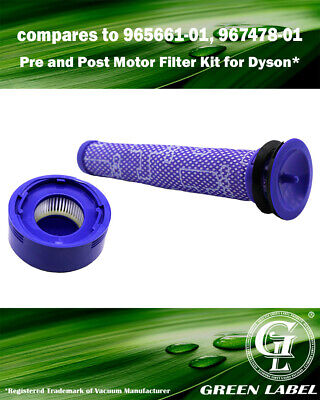 Filter Kit for Dyson V8 Vacuum Cleaners (965661-01, 967478-01). By Green Label