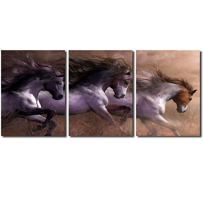 Running Horse Wall Painting Canvas Picture Art Print Unframed Mural Home Decor