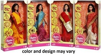 Barbie Doll Wedding Fantasy Dressed Gorgeous Indian bridal outfit Color Vary