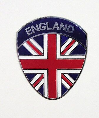 ENGLAND painted metal badge Union Jack shield Vespa club