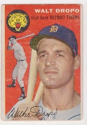 1954 Topps #18 Walt Dropo - Detroit Tigers, Very Good Condition