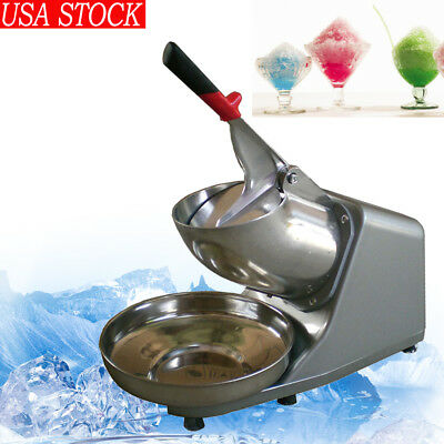 132lbs/h Ice Shaver Machine Snow Cone Maker Electric Crusher Shaving 110V 【US】