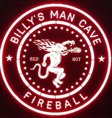 Custom Fireball Whisky 12 x 12 Man Cave Multi color LED Sign led box with remote