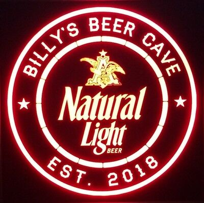 Personalized Natural light Beer 12 x 12 Multi color LED Sign led box with remote