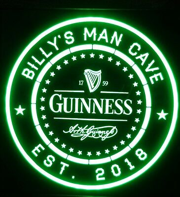 custom personalized Guinness led 12 x 12 Multi color LED Sign led with remote