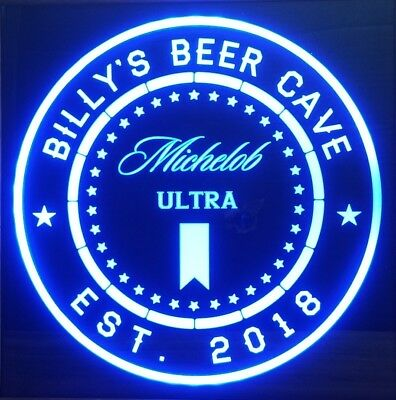 personalized Michelob Ultra led 12 x 12 Multi color LED Sign led  with remote