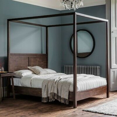 Colonial Wood Boutique Styled 5ft King Size Four Poster Bed Unique Boho Design