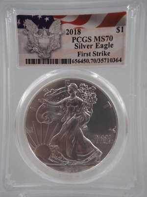 2018 American Silver Eagle First Strike MS70 PCGS - SKU 824G