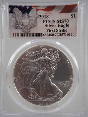 2018 American Silver Eagle First Strike MS70 PCGS - SKU 825G
