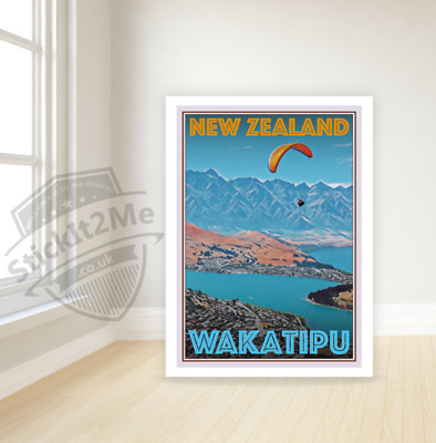 Art Deco Travel Posters Lovely Vintage Retro Holiday Tourism *Unique New Zealand