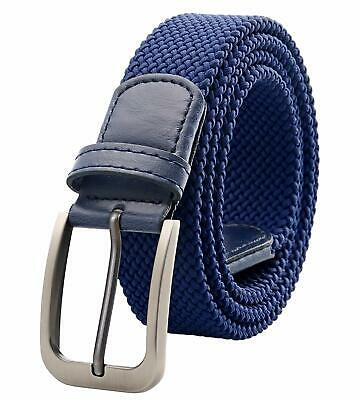 Weifert Belt for Men Braided Stretch Belt/No Holes Elastic Fabric Woven Belts