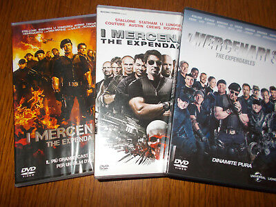 Lotto 3 Dvd Trilogia I Mercenari The Expendables 1 2 3 Sylvester Stallone