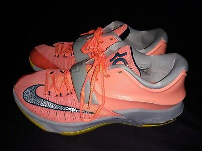 competitive price ae28b 8f99f Nike Air Sz 10 KD Kevin Durant VII 7 GS 35000 Degrees Mango Gray Sneakers
