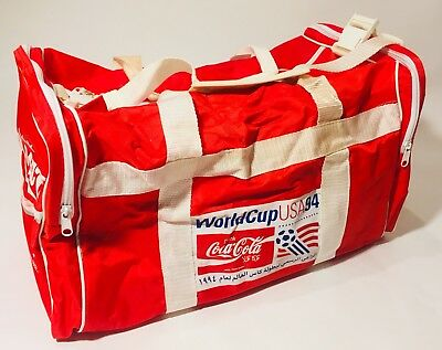Vintage Rare Coca Cola Coke Duffle Gym Bag Tote 1994 World Cup Soccer