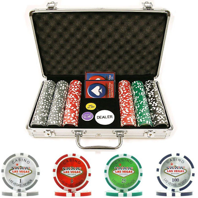 Trademark Poker 300 15-Gram Clay Welcome to Las Vegas Chip Set w/ case M14
