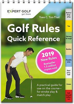 NEW 2019 UPDATED GOLF RULES Quick Reference Pocket Guide Book