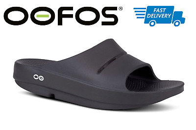 🇺🇸OOFOS OOAHH Slide Sandals Recovery Thong Footwear BLACK - NEW!!