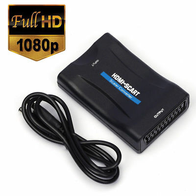 Scart To HDMI MHL Converter Audio Video Adapter For 1080P HDTV Sky Box STB