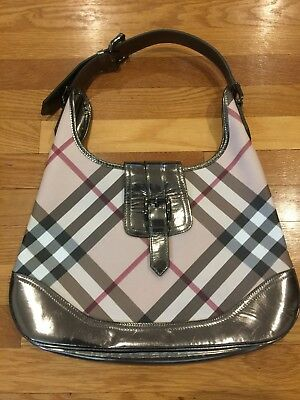 BURBERRY NOVA CHECK Coated Canvas Patent Leather Backpack -  660.00 ... 1ee74260ba
