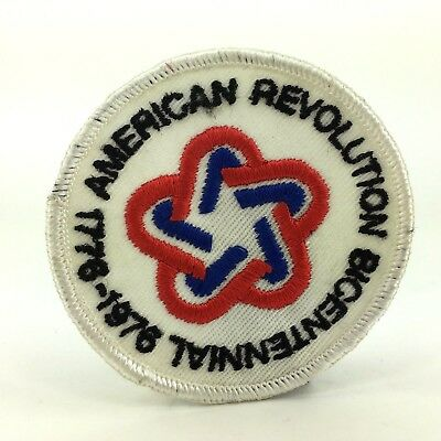 "Vintage American Revolution Bicentennial 1776 - 1976 Embroidered 3"" Patch"